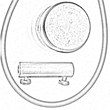 Κουμπί περιστροφής για στορ ανάμεσα σε δύο τζάμια - Σετ εξαρτημάτων