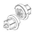 Μηχανισμός περιστροφής Φ50 mm ΜΕΤΑΛΛΙΚΟΣ