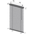Ηλεκτροκίνητες οριζόντιες περσίδες αλουμινίου μονόχρωμες - Εσωτερικές (ανάμεσα σε δύο τζάμια)