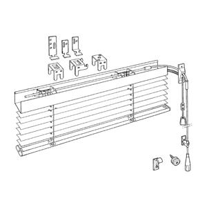 Χειροκίνητες οριζόντιες περσίδες αλουμινίου μονόχρωμες - Εσωτερικές (ανάμεσα σε δύο τζάμια)