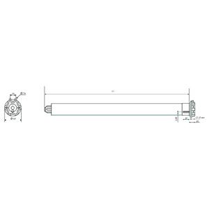 Ηλεκτρικός μηχανισμός για Ο.Π. SOMFY 220 volt - Modulis ασύρματο