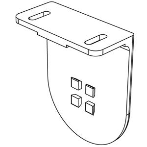 Μεταλλικό στήριγμα 86mm (Λευκό-Ασημί)