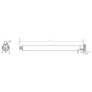 Ηλεκτρικός μηχανισμός για ρολλοκουρτίνες με ενδιάμεσο στήριγμα SOMFY