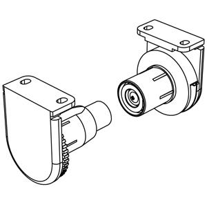 Μηχανισμός περιστροφής Φ25 mm ΜΕΤΑΛΛΙΚΟΣ