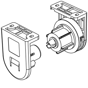 Μηχανισμός περιστροφής Φ50 mm ΛΕΥΚΟΣ